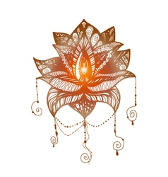 Flower Lotus Tattoo vector