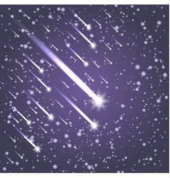 Flying meteors ultra violet vector