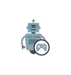 game robot logo icon design vector image