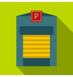 Gates to parking icon flat style vector