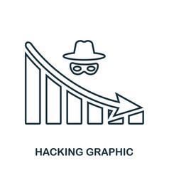 Hacking decrease graphic icon mobile app vector
