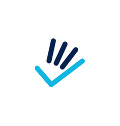 hand check finger gesture logo icon vector image