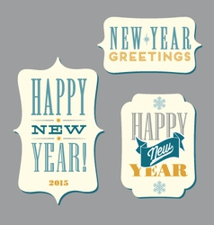 Happy New Year typography designs vector image