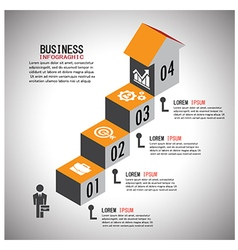 infographic Template with businessman4step vector image