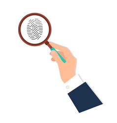 investigation of thumb prints by magnification vector image