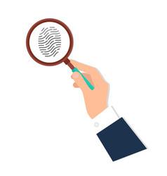 Investigation thumb prints magnification vector