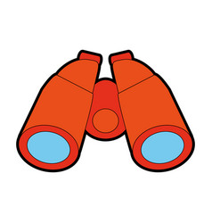 Isolated binoculars icon image vector