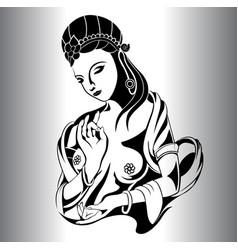 lady statues silhouette vector image