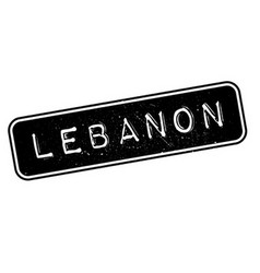 Lebanon rubber stamp vector image