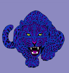 leopard face tattoo print vector image