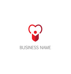 love alone people valentine logo vector image