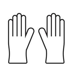 medical nitrile gloves simple medicine icon in vector image