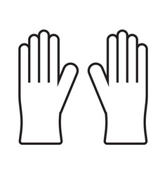 medical nitrile gloves simple medicine icon vector image