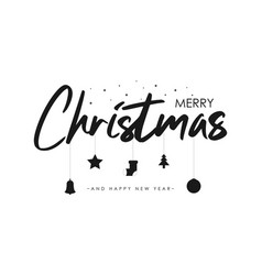 merry christmas text banner vector image