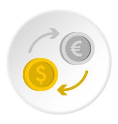 money exchange icon circle vector image