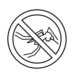 No mosquito sign icon outline style vector