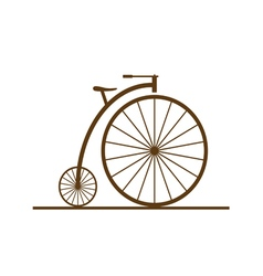 Old bicycle color vector