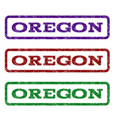 oregon watermark stamp vector image