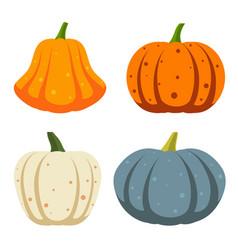 Pumpkin simple flat color icons set vector