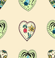 Retro Love Heart Patterned Background vector image