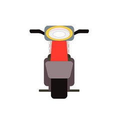 retro moped scooter front view vector image