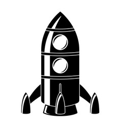 rocket black drawing vector image