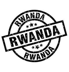 Rwanda black round grunge stamp vector