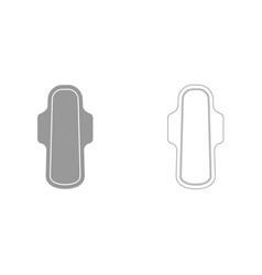Sanitary napkin it is icon vector