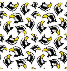 seamless pattern with eagle vector image