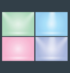 Set of clear empty studio light pastel vector
