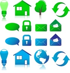 Set of ecological icons vector