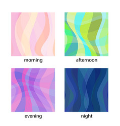 set of modern backgrounds vector image