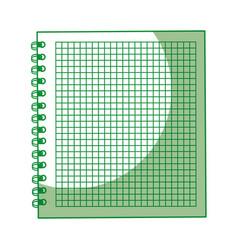 shadow green notebook cartoon vector image