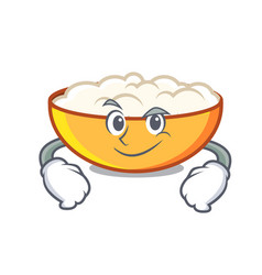 Smirking cottage cheese character cartoon vector