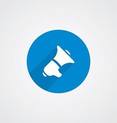 speaker Flat Blue Simple Icon vector image