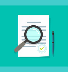 Statement terms document audit review flat vector