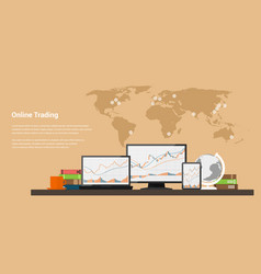 Stock trading online vector