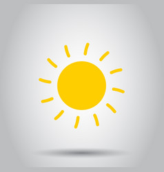 sun icon on isolated background business concept vector image