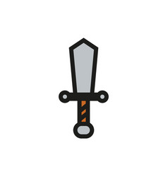 sword icon on white background vector image