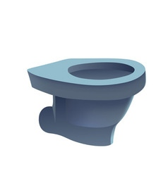 Toilet isolated vector