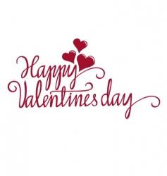 valentine calligraphy vector image