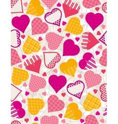 valentines background with color hearts vector image