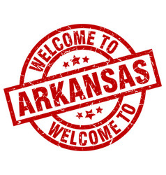 Welcome to arkansas red stamp vector