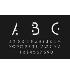 White alphabetic font vector