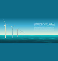 wind energy power concept poster header vector image
