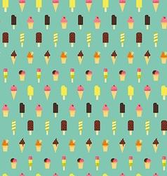 Ice cream pattern Seamless background vector image