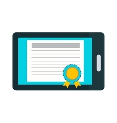 Online education certificate vector image