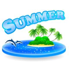 Summer Tropical Island vector image