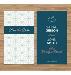 wedding card pattern green 01 vector image