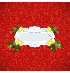 Christmas Retro Background vector image